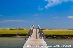 Famous Town Neck Beach Boardwalk in Sandwich, Massachusetts, USA