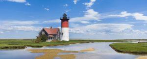 Light house on Cape Cod, MA. USA